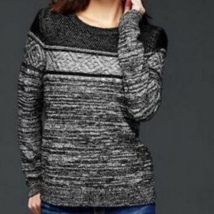 Gap Black Marl Sweater